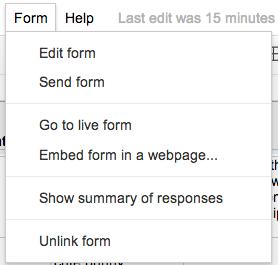 Googleform-formmenu