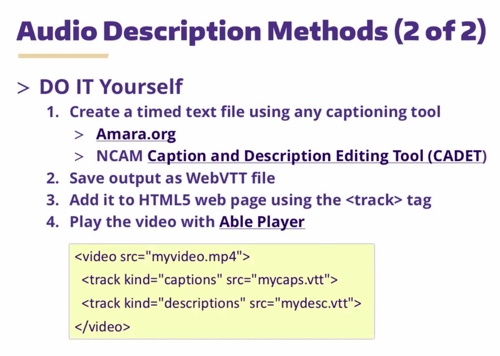 audio description notes 2 of 2