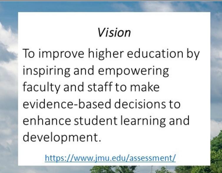 vision statement for JMU